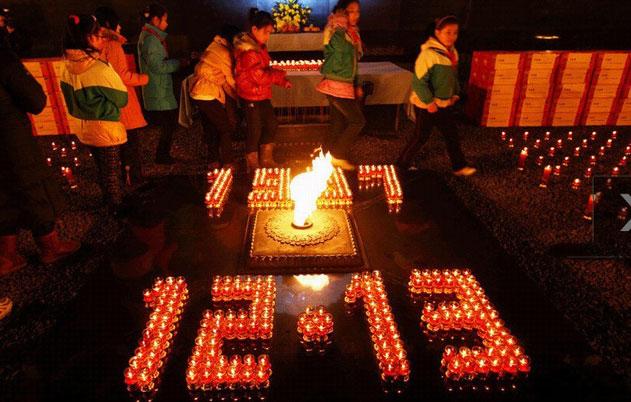 烛光祭奠南京大屠杀遇难者
