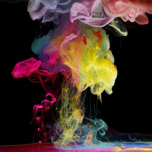 迷幻化学烟雾  绚丽的水下油墨