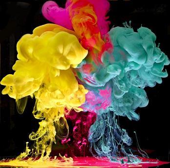 迷幻化学烟雾!绚丽的水下油墨