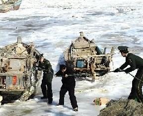 渤海结冰面积约2.7万平方公里 超总面积1/3