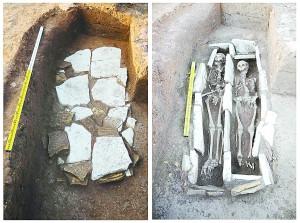 红山文化首次发掘男女并穴墓