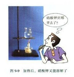 化学九年级下人教新课标9.2溶解度教材配图(一)