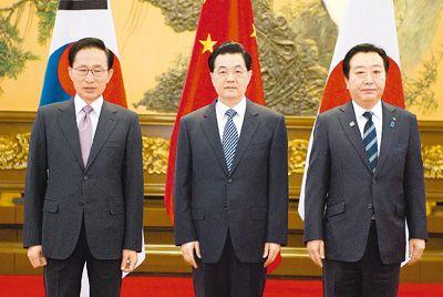 胡锦涛会见韩日领导