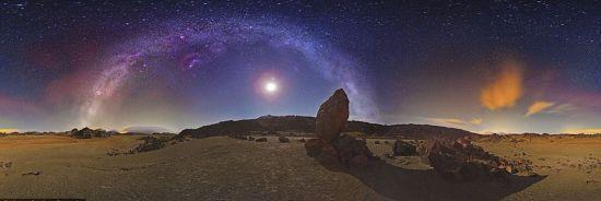 宏伟壮观银河全景
