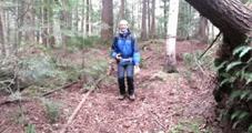 加拿大森林发现蹦床地面 人们可自如弹跳