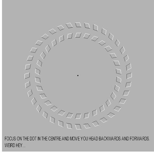 看着黑点身体前后移动能动的静态图片