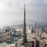 世界最高的摩天大楼迪拜塔基本建成
