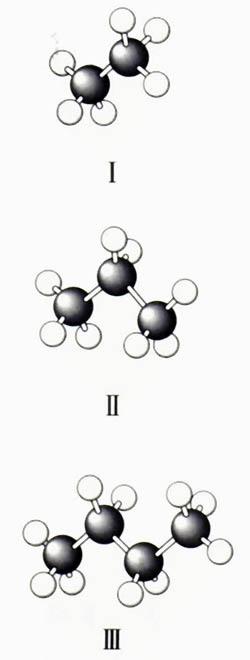 几种烷烃的球棍模型