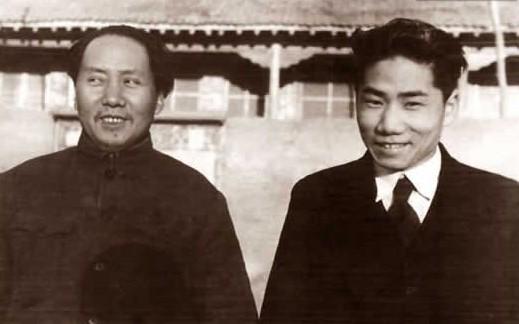 毛泽东与毛岸英父子照