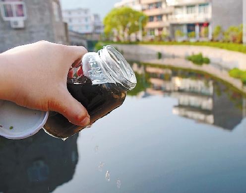 浙江温岭一河流氨氮超标五倍 河水黑臭如墨汁