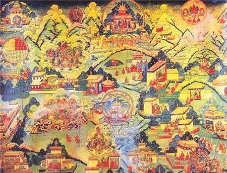 布达拉宫的壁画