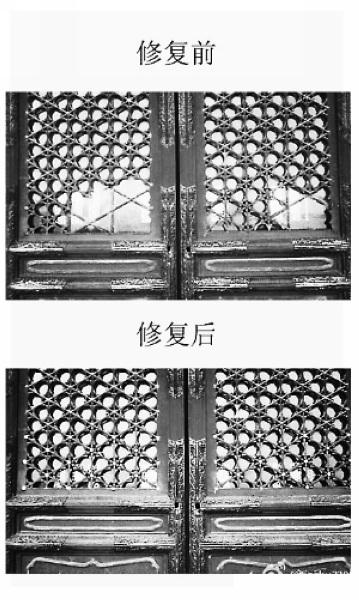 """网曝游人不文明行为 """"扒""""国联军损毁故宫殿窗"""