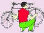 用自行车弹琴