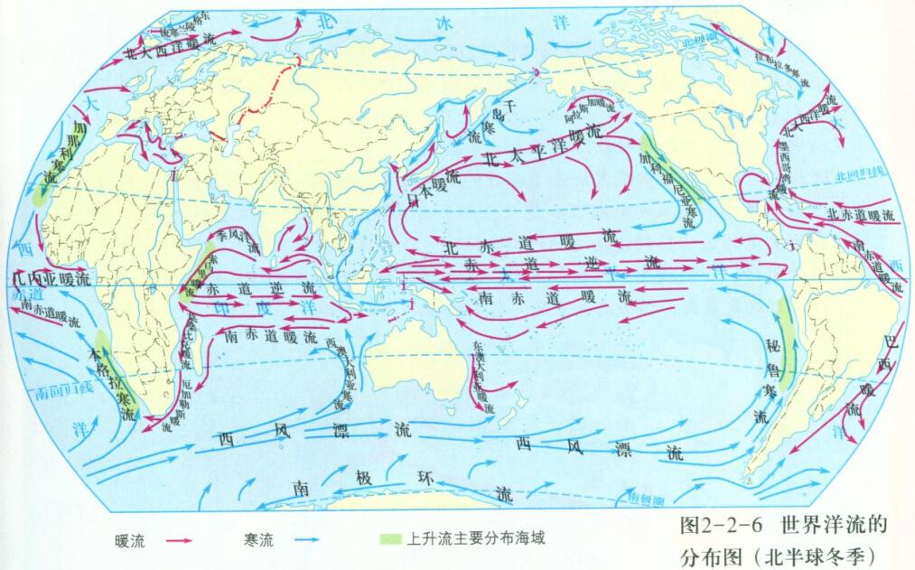 北美气候分布图手绘